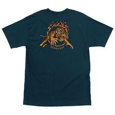 Santa Cruz Steve Alba SALBA TIGER Skateboard T Shirt HARBOR BLUE XL