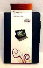 "rooCASE for Dual-View Synth Leather Folio Case Asus Memo Pad 10"" Blue w/Stylus"