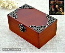 Sankyo [Pirates of Caribbean - He's A Pirate] Vintage Wood Rectangle Music Box
