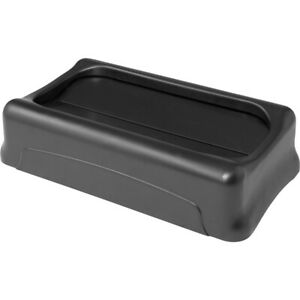 Rubbermaid Commercial Slim Jim Container Swing Lid - Rectangular - 1 Each -