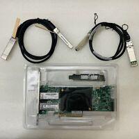 HP NC552SFP DUAL PORT 10GbE SERVER ADAPTER 614203-B21 +2 *SFP+ 1m cable