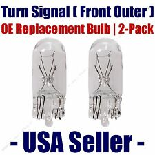 Front Outer Turn Signal Light Bulb 2pk Fits Listed Saab Vehicles 2825