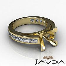 Princess Shape Diamond Engagement Ring Setting Semi Mount 14k Yellow Gold 1.2Ct