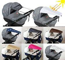 BABYLUX Sonnenschutz SONNENSEGEL für Kinderwagen Buggy UV Schutz Rollo Funktion