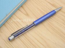 BLUE Colorful crystal pen silver Trim aluminum fashion Ballpoint Pen