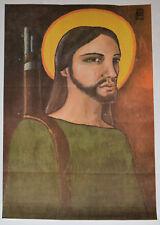 1969 Original Cuba Political Poster.Cold War Graphic Propaganda.Guerrila Christ.