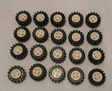 LEGO 20 x Rad Reifen 14x6 mit Felge weiß wheel rim white 3641 4624 462401 364126