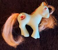 VTG 1987 MLP 80'S G1 PRINCESS SERENA Blue My Little Pony Tinsel Hair Heart 1987