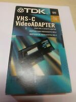 TDK Video Cassette Adapter VHS-C to VHS VCR