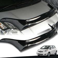 GLOSS BLACK FRONT BUG GUARD SHIELD FIT FOR TOYOTA YARIS HATCHBACK 2009-2013