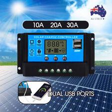 Solar Panel Regulator Charge Controller USB 10A/20A/30A 12V-24V
