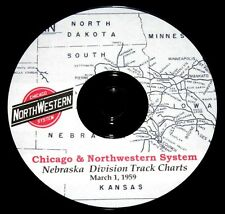 Chicago & Northwestern RR 1959 Nebraska Division Track Chart PDF Pages on DVD