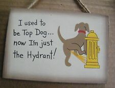 "6"" Country Funny Used To Be The Top Dog & Now am The Hydrant Phrase Novelty Sign"