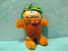 RARE 1981 Dakin Garfield - Hawaiian Luau Pineapple - Soft Plush Stuffed Toy 12""