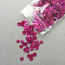 SALE! 1000 x Round Cup Sequins - 6mm.  Metallic Dark Cerise Pink.