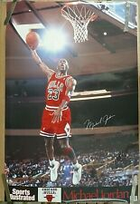 RARE MICHAEL JORDAN BULLS  1991 VINTAGE ORIG SI SPORTS ILLUSTRATED NBA POSTER