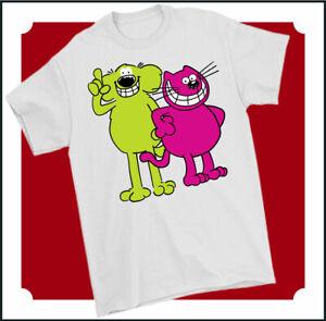 ROOBARB and CUSTARD T-SHIRT, Mens Retro Cartoon Unisex Tee Top 70s 80s TV Show