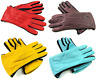 Womens Ladies Premium Quality Genuine Soft Leather Gloves Fleece Lined Driving