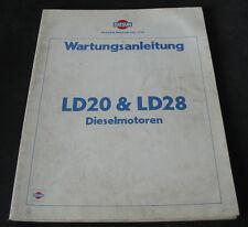Werkstatthandbuch Datsun Nissan Vanette LD 20 LD 28 Diesel Motor 12/1980