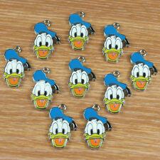 Lot 10pcs Donald Duck Metal Charm Pendants for Kids Jewelry Making Crafts DIY