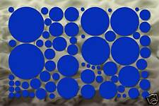 70 Blue Circle Wall Decal Stickers Polka Dot Bedroom