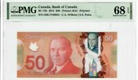 Canada $50 Banknote 2012 BC-72b PMG Superb GEM UNC 68 EPQ - Polymer