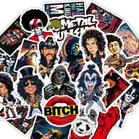 50 Rock & Roll Heavy Metal Stickerbomb Retrostickern Aufkleber Sticker Mix Decal