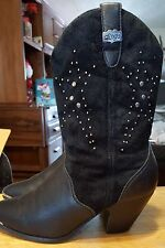 Dingo ankle boots for women size medium leather /suede slip on studs