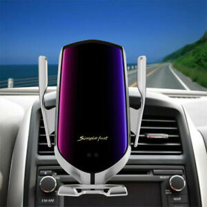 Automatic Clamping Qi Wireless Car Charger Mount Air Vent Holder for Cell Phone
