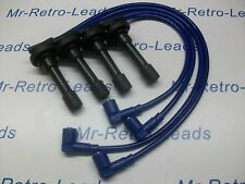 BLUE 8MM PERFORMANCE IGNITION LEADS FITS HONDA CIVIC D16 DOHC ENGINES QUALITY HT