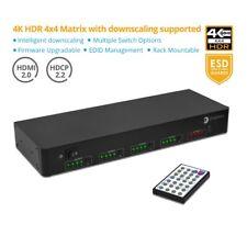 gofanco 4x4 HDMI Matrix Switch 4K 60Hz HDR Auto Downscaling (Output 4K & 1080p)