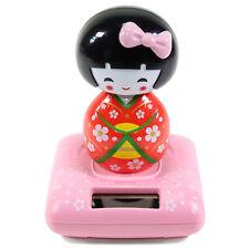 Solar Power TOY - Red Kimono Cute Geisha Japanese Girl Car Gift Home Decor