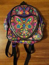"""Vintage 90s Lisa Frank Mini Butterfly Backpack Storage Bag 8"""" Kids"""