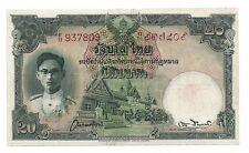 THAILAND 20 BAHT 1948 SIGN 28 UNC-/ UNC P 72 a