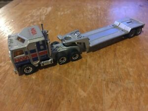 Vintage Matchbox NASA Cabover COE tractor trailer flat bed HO scale 1/87 diecast
