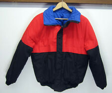 vtg Downhill Racer Puffer Coat Jacket Ski Snow down fill reversible retro sz L