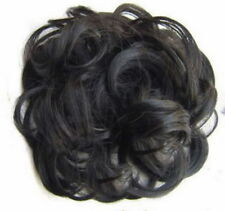 Women Ladies Extra Long Wavy Curly Scrunchie Hair Piece Pony Holder Wig Add on Black
