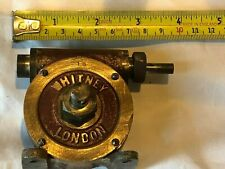 VINTAGE MODEL STATIONARY / STEAM ENGINE WHITNEY LONDON WORKING BRASS ANGLE DRIVE
