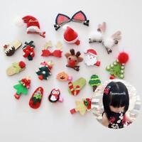 Baby Weihnachten Sankt Schneemann Baum Haarspange Hairpin Clips Weihnachten