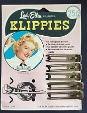 """Vintage Hair Pins - 5 """"Lady Ellen"""" Hollywood Klippies on original card"""