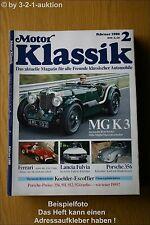 Motor Klassik 2/89 MG K3 Porsche 356 Ferrari Lancia