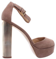 MICHAEL KORS Paloma Platform Suede 40R8PAHS1S DK Khaki Sandal Scarpe Donna New