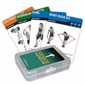 FitDeck Resistance Tube Exercise Playing Cards