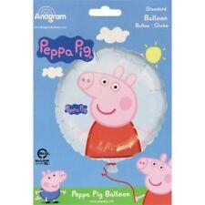 Ballons de fête bleus ronds en Peppa Pig pour la maison