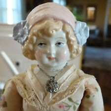 Antique Vintage 13-inch Hertwig Reproduction   Bonnet Head Doll