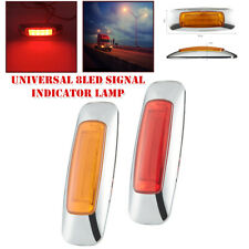 2x Universal Oval Truck Trailer Side 8LED Turn Signal Lamp Indicator Brake Light