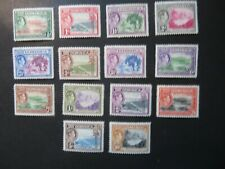 More details for 1938-47 dominica sg99-108a set mounted mint