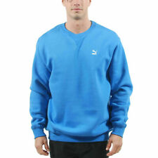 Men's PUMA Logo Sweat Crew Neck Sweatshirt Palace Blue size XXL $45