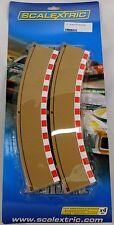 SCALECTRIX C8228 set 4 cordoli esterni per curve raggio 2 + guard rail