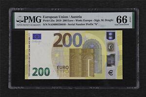 2019 European Union / Austria 200 Euro Pick#25n PMG 66 EPQ Gem UNC